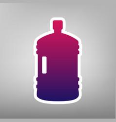 plastic bottle silhouette sign purple vector image vector image