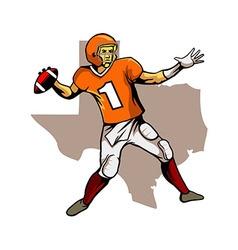 Quarterback Texas Team vector image vector image