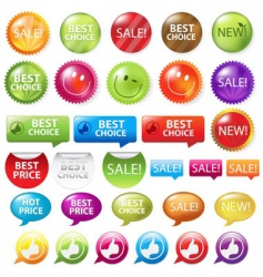 retail badges vector image vector image
