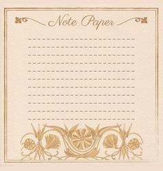 Scrapbook note paper vector