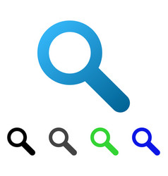 search flat gradient icon vector image vector image