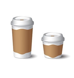 White Paper Cup 3 vector image