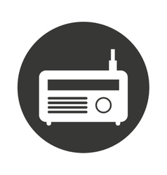 Radio antena silhouette icon vector
