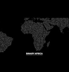 Abstract binary africa map vector
