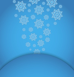 Christmas applique with set snowflakes vector image