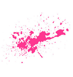Pink blot on black background vector