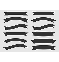 Black and white ribbons vector