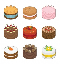 tasty cakes vector image