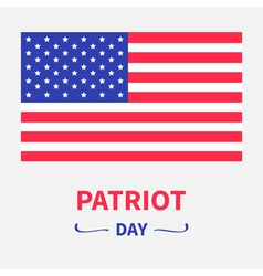 American flag patriot day background flat design vector
