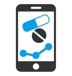 Pharmacy online report icon vector