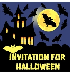 Invitation for halloween party card vector