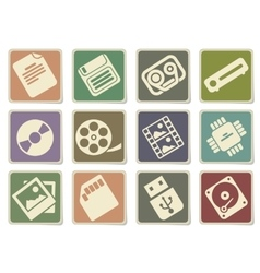 Data analytic simply icons vector
