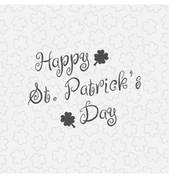 Happy st patricks day background template vector