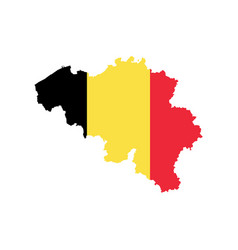 Belgium map and flag vector