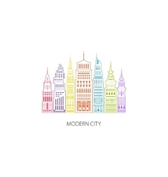 Big city emblem linear style vector