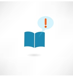 book with a message icon vector image