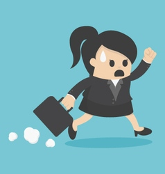business woman Late for Work vector image vector image