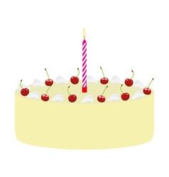 Cake with cherries vector