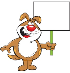 Cartoon Dog with a Sign vector image