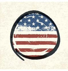 circle shaped usa flag vector image