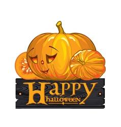 congratulation with Happy Halloween vector image vector image