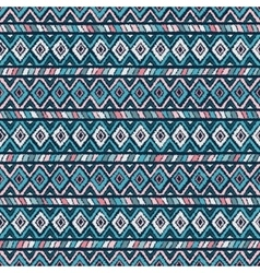 Ethnic tribal seamless pattern in pink and blue vector
