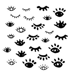 Eyes isolated closed eye vector