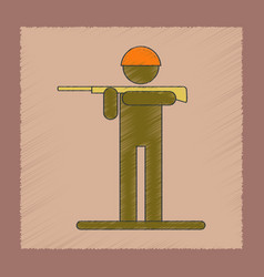 flat shading style icon kids toy soldier vector image
