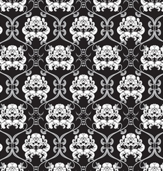 floral design seamless black and white vector image vector image