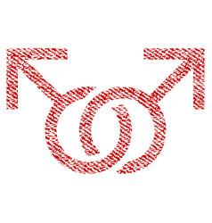 Gay love symbol fabric textured icon vector