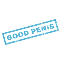 Good penis rubber stamp vector