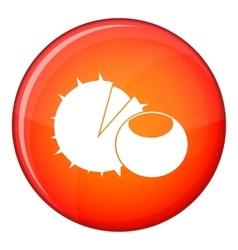 Hazelnuts icon flat style vector