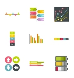 Idea business icons set flat style vector