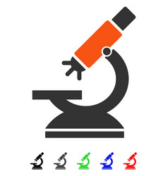 Labs microscope flat icon vector