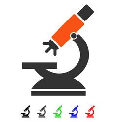 Labs microscope flat icon vector