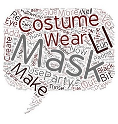 Make your own costume party mask text background vector