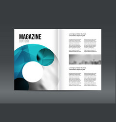 Modern brochure layout design template vector