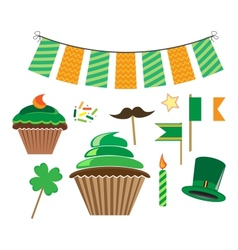 set of icons for stpatricks day vector image vector image