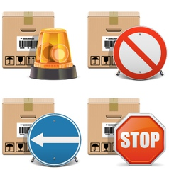 Shipment Icons Set 24 vector image vector image