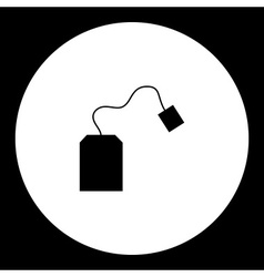 Simple teabag for making tea silhouette icon eps10 vector