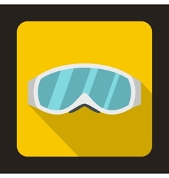 Skiing mask icon in flat style vector image