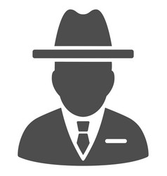 Spy person icon vector