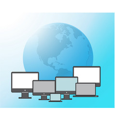 technology background computer vector image