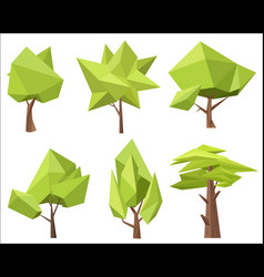 The different conceptual green trees with the vector