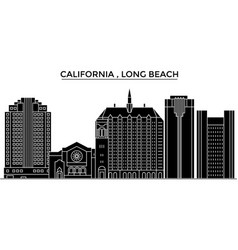 usa california long beach architecture vector image