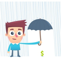 Wealth in safe hands vector image vector image