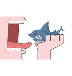 Man eating shark destruction of marine predator vector