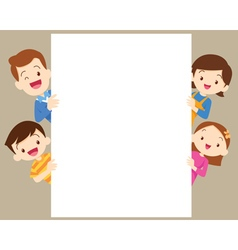 Cute family post with white frame vector