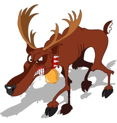 Dreadful reindeer vector