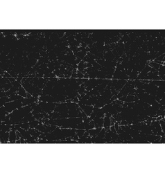 Black texture of scanned folded cracked paper vector